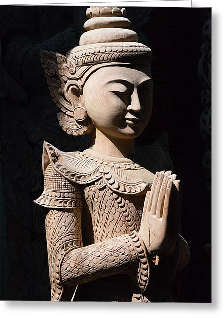 Buddhist Statue, Mandalay, Myanmar Greeting Card