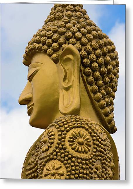 Buddhist Statue, Manila, Philippines Greeting Card