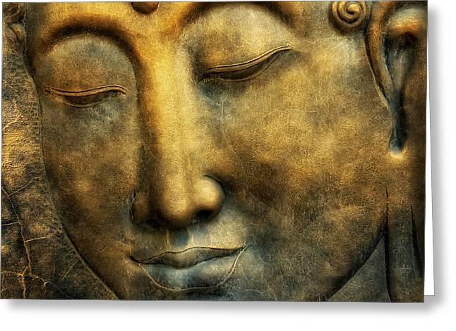 Buddho Greeting Card by Joachim G Pinkawa