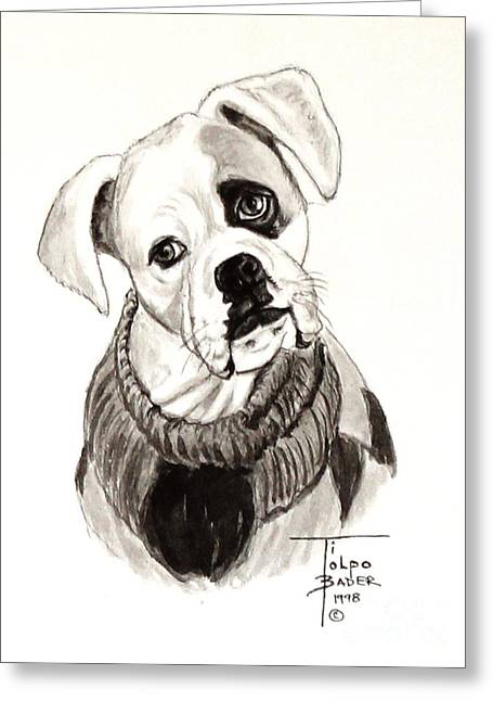 Buddy The Boxer Greeting Card