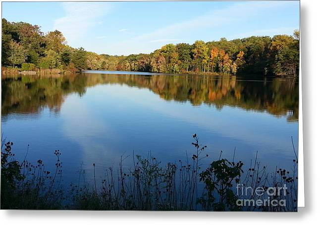 Buddy Attick Lake Park Greeting Card by Emmy Vickers