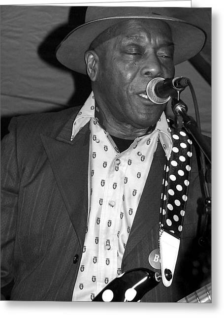 Buddy Guy Sings The Blues Greeting Card
