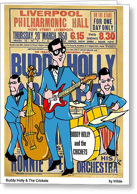 Buddy Holly And The Crickets In The Uk Greeting Card