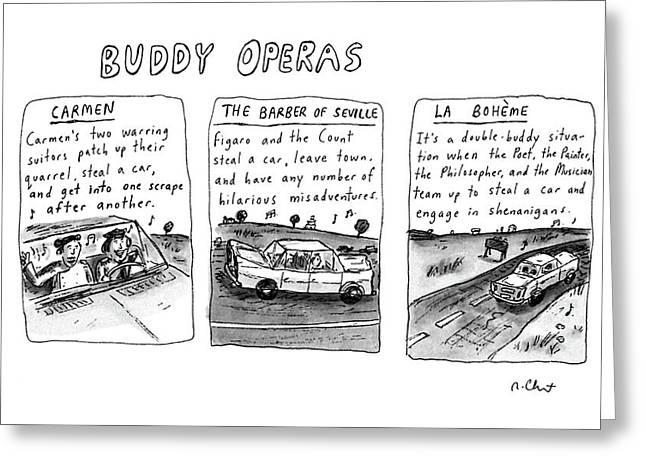 Buddy Operas Greeting Card