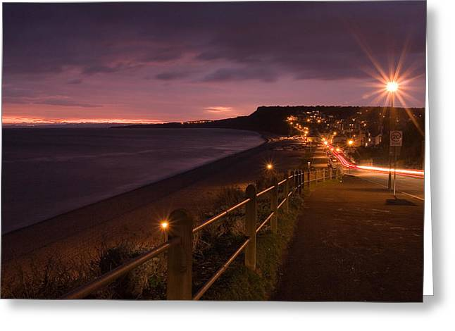 Budleigh Salterton Greeting Card by Ollie Taylor