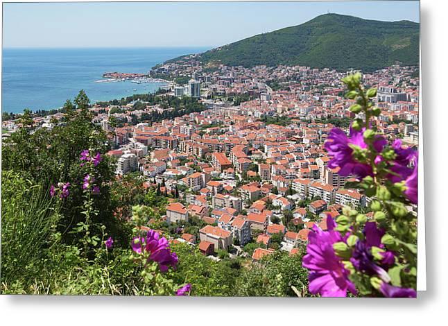 Budva, Montenegro. Overall View Greeting Card