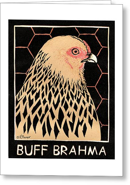 Buff Brahma Greeting Card by Katherine Plumer