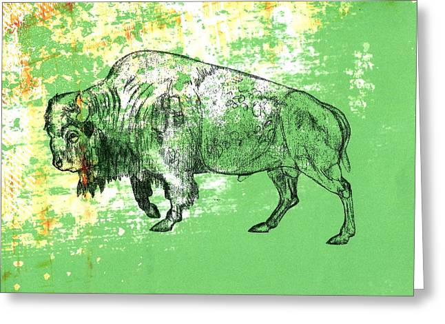 Buffalo 11 Greeting Card by Larry Campbell