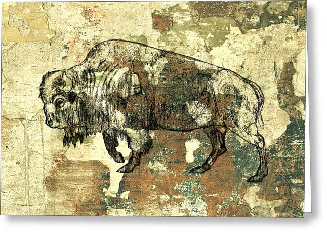 Greeting Card featuring the photograph Buffalo 7 by Larry Campbell