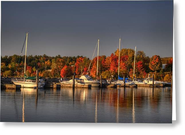 Buffalo Bay Marina 1 Greeting Card by Thomas Young