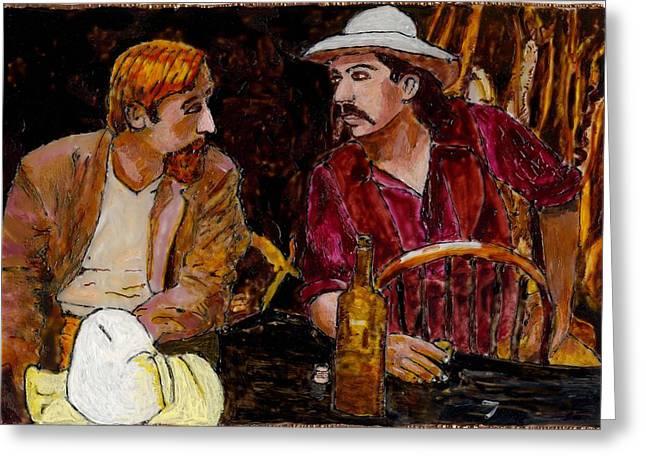 Buffalo Bill And Wild Phil Greeting Card by Phil Strang