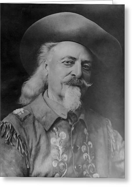 Greeting Card featuring the photograph Buffalo Bill Cody by Charles Beeler