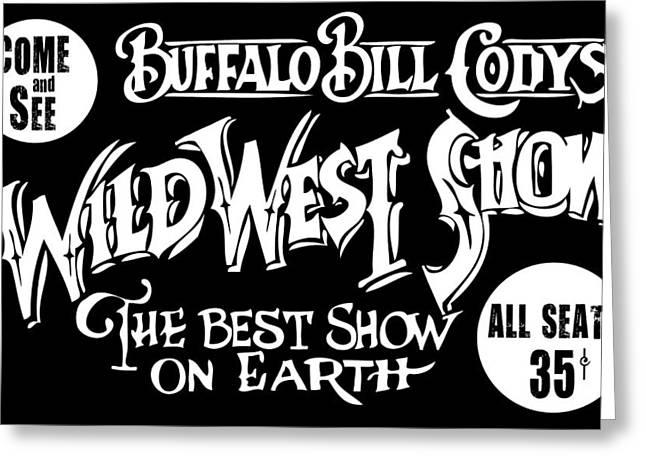 Buffalo Bill Cody Sign 2 Greeting Card by Daniel Hagerman
