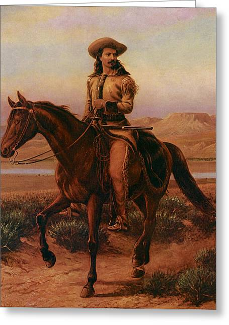 Buffalo Bill On Charlie Greeting Card by William Cary