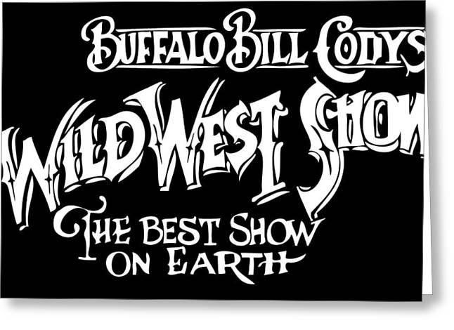 Buffalo Bill Sign Greeting Card by Daniel Hagerman