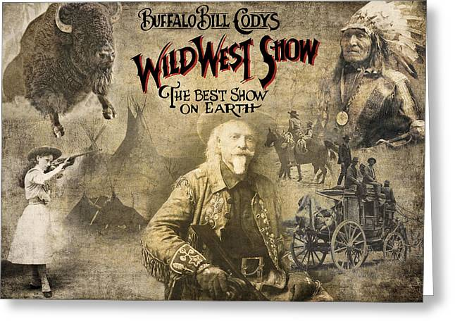 Buffalo Bill Wild West Show Greeting Card