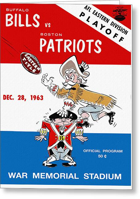 Buffalo Bills 1963 Playoff Program Greeting Card