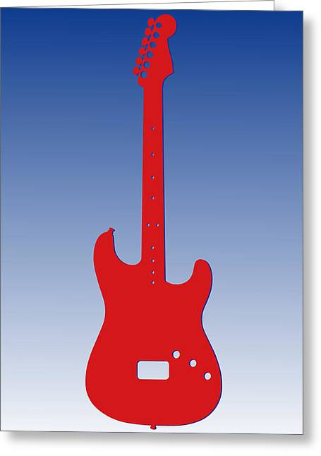 Buffalo Bills Guitar Greeting Card