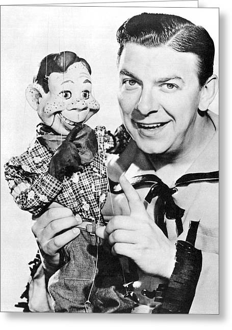 Buffalo Bob And Howdy Doody Greeting Card by Underwood Archives