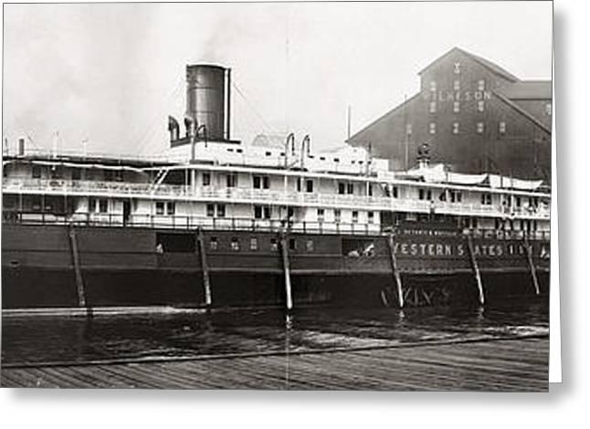 Buffalo Docks, C1909 Greeting Card