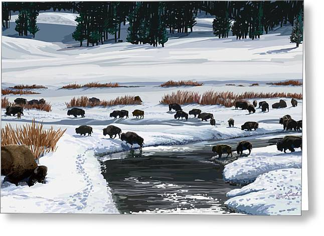 Buffalo Ford Winter Greeting Card