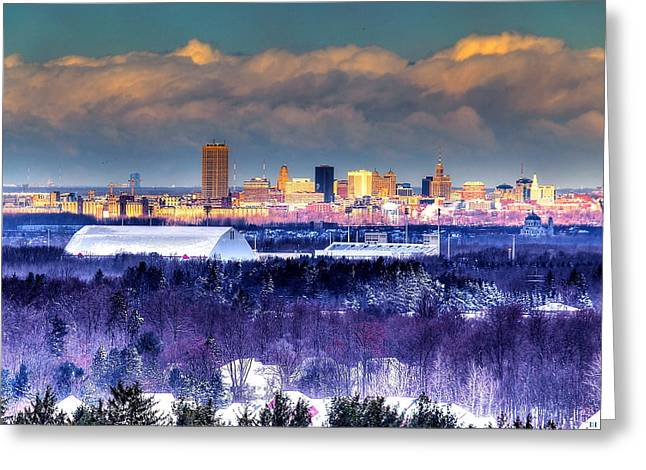 Buffalo From Chestnut Ridge Greeting Card by Don Nieman
