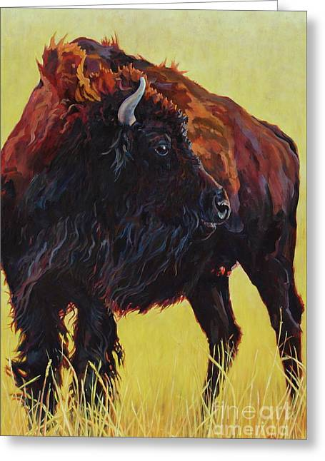 Buffalo Girl Greeting Card
