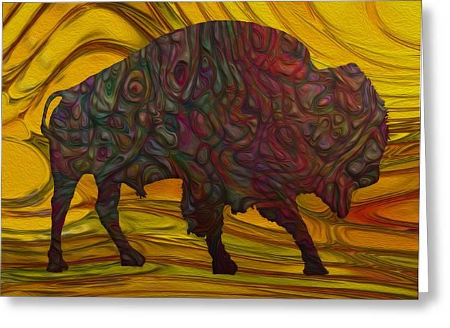 Buffalo Greeting Card by Jack Zulli