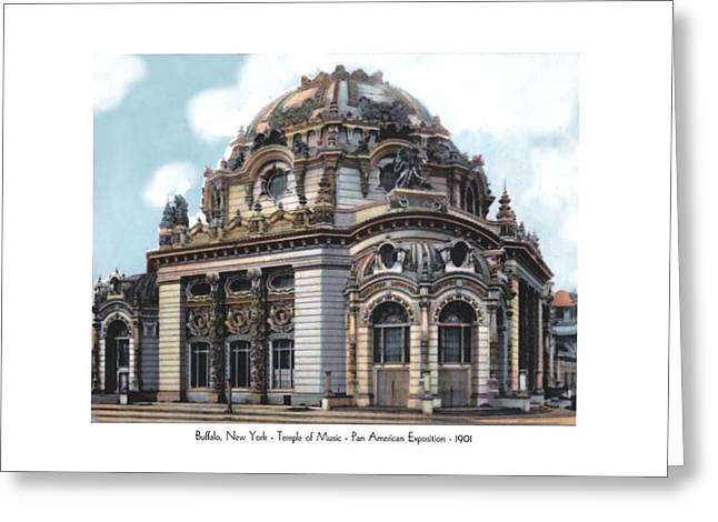 Buffalo New York - Temple Of Music - Pan American Exposition - 1901 Greeting Card