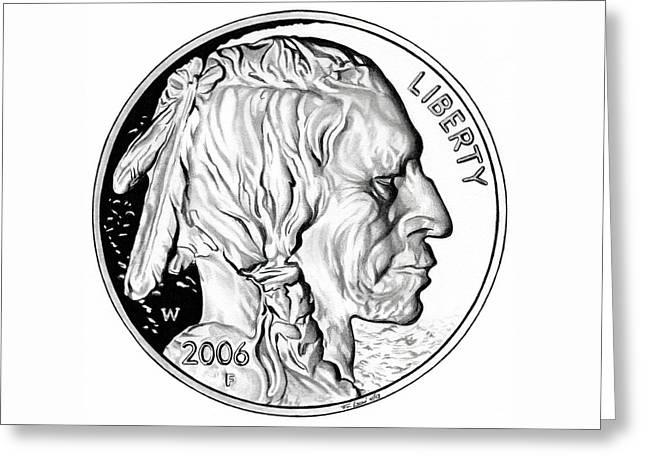 Buffalo Nickel Drawing By Fred Larucci
