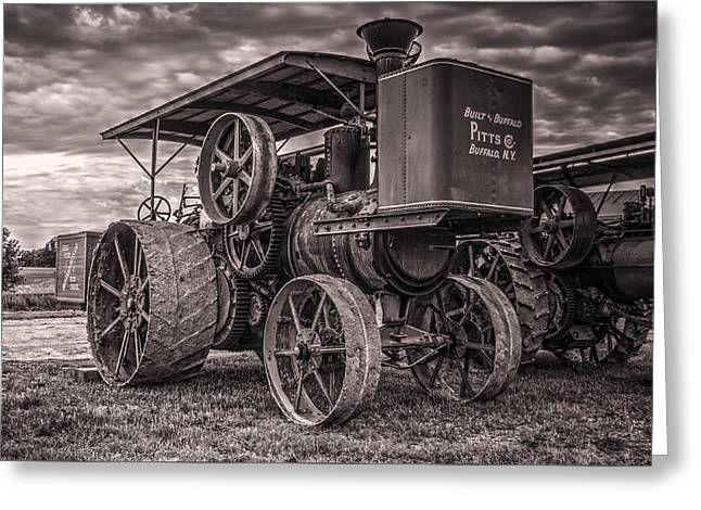 Buffalo Pitts Steam Traction Engine Greeting Card