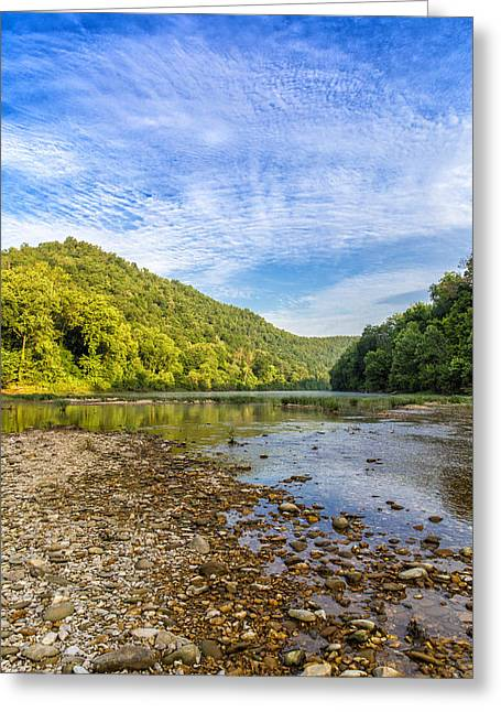 Buffalo River Details Greeting Card by Bill Tiepelman