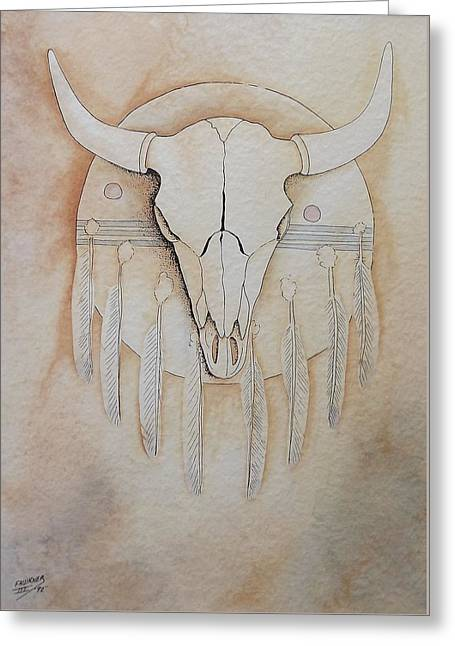 Buffalo Shield Greeting Card