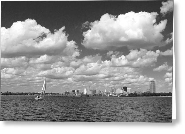 Greeting Card featuring the photograph Buffalo Skyline by Cindy Haggerty