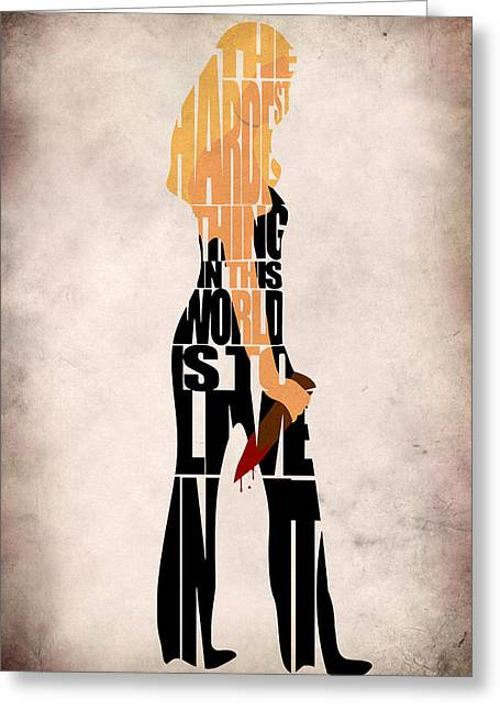 Buffy The Vampire Slayer Greeting Card by Ayse Deniz