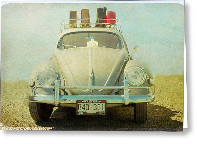 Bug On A Trip Greeting Card by Michele Wright