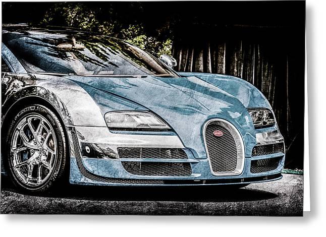 Bugatti Legend - Veyron Special Edition -0844ac Greeting Card by Jill Reger