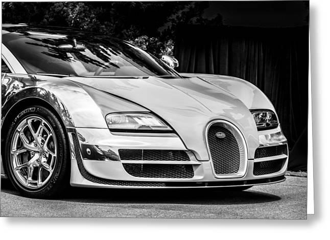 Bugatti Legend - Veyron Special Edition -0844bw Greeting Card by Jill Reger