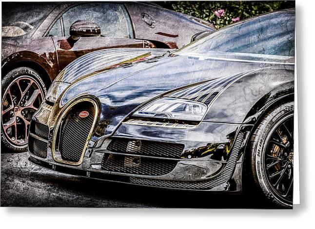 Bugatti Legend - Veyron Special Edition -0845ac Greeting Card by Jill Reger