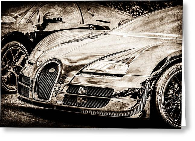 Bugatti Legend - Veyron Special Edition -0845s Greeting Card by Jill Reger