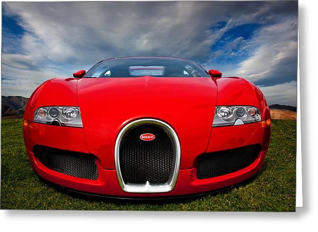 Bugatti Veyron Greeting Card by Peter Tellone