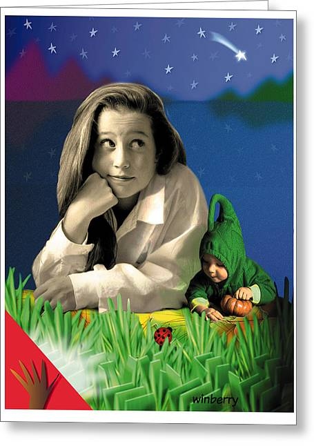 Bugs To Stars Greeting Card by Bob Winberry