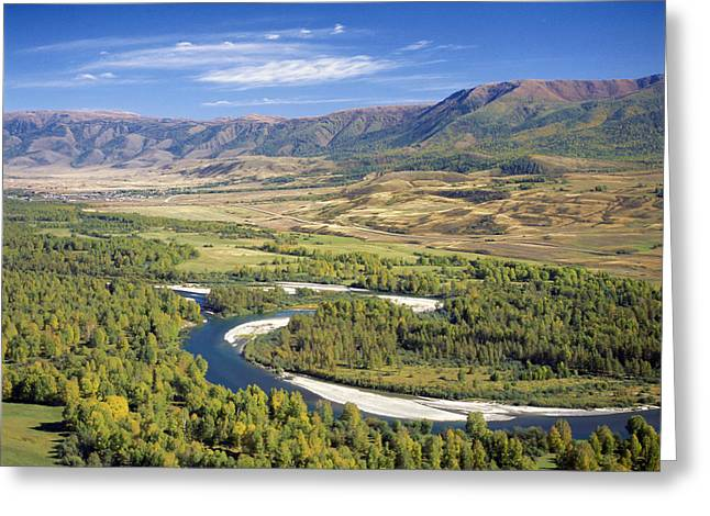 Buhtarma River. Kazakhstan Greeting Card