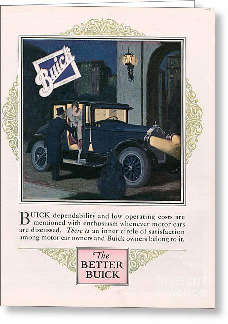 Buick 1926 1920s Usa Cc Cars Greeting Card by The Advertising Archives