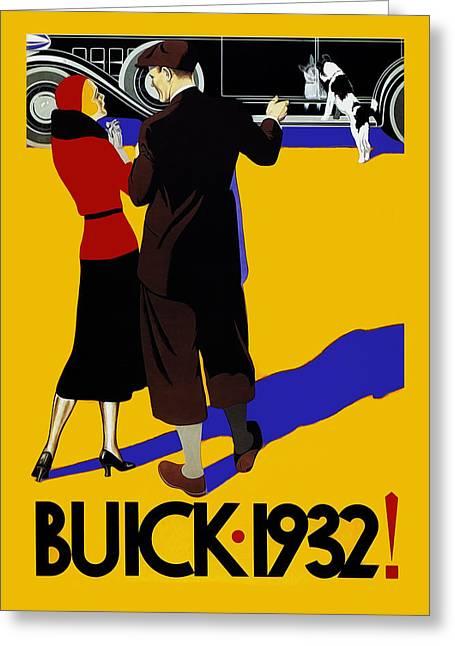Buick 1932 Greeting Card by Mark Rogan