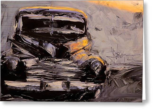 Greeting Card featuring the digital art Buick Eight by Jim Vance