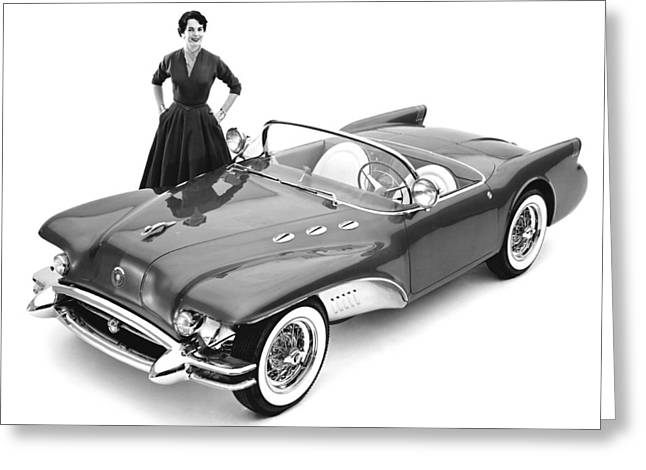 Buick Wildcat II Concept Car Greeting Card