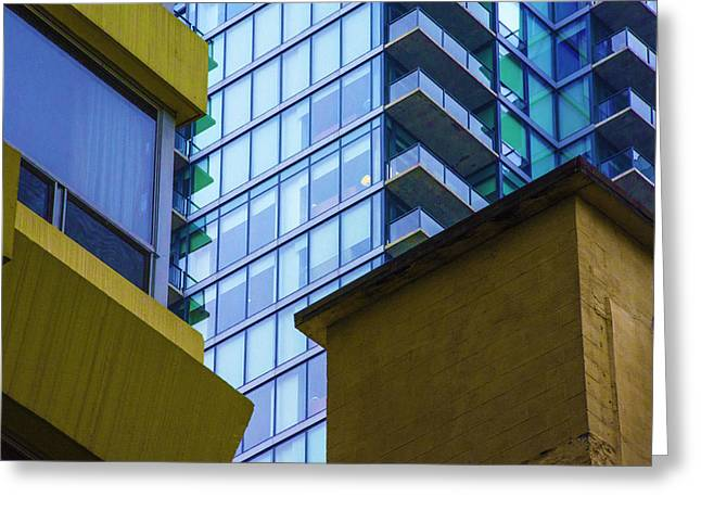 Building Abstract No.1 Greeting Card by Raymond Kunst
