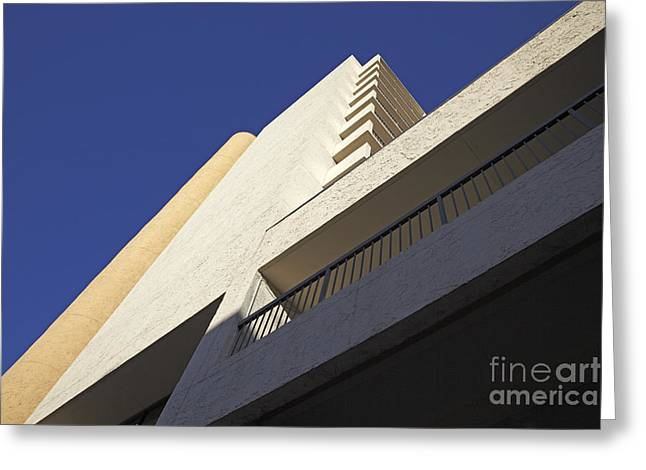 Building Abstract Greeting Card by Tony Cordoza