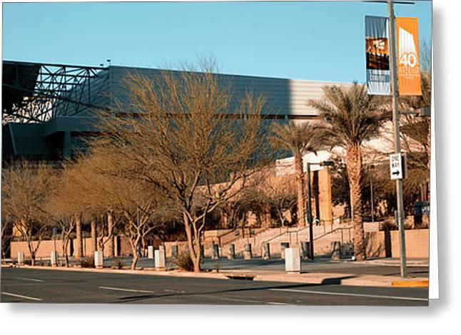 Building Along A Street, Phoenix Greeting Card by Panoramic Images